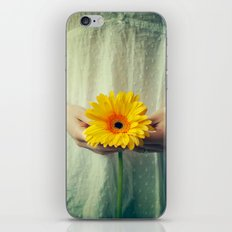The Girl With The Daisy  iPhone & iPod Skin