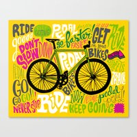 RIDE YOUR BIKES Canvas Print