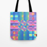 Grungy, Glitchy Gingham Tote Bag