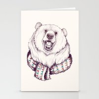Bear & Scarf Stationery Cards