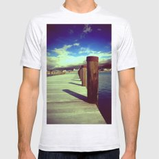 What's Up Dock?  Mens Fitted Tee Ash Grey SMALL