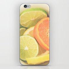 Citrus on White iPhone & iPod Skin