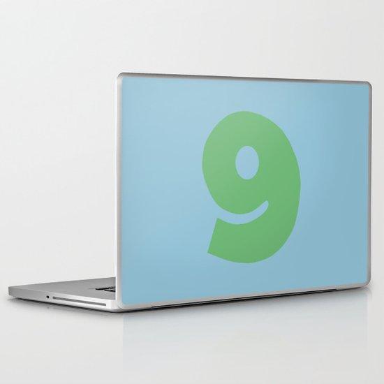 Number 9 Laptop & iPad Skin