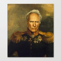 Clint Eastwood - Replace… Canvas Print
