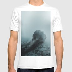 Skull 2 SMALL Mens Fitted Tee White