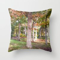 Trees at Wellesley  Throw Pillow