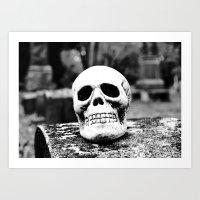 Graveyard Horror Art Print