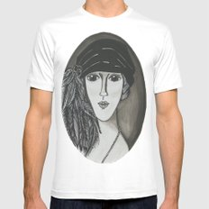 Bright Eyed Girl Mens Fitted Tee SMALL White