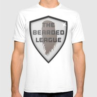 The Bearded League Mens Fitted Tee White SMALL