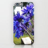 Blue Cemetery Flowers iPhone 6 Slim Case