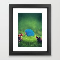 Blue Pet! Framed Art Print