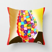 who?(variant3) Throw Pillow