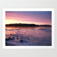 Frozen Sunset 3 - Pink L… Art Print