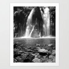 Places in Black & White: Burney Falls 17 Art Print