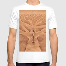 Paths like Branches White Mens Fitted Tee SMALL