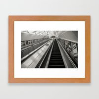 Leicester Square Tube 5am (Cold) Framed Art Print