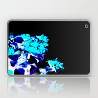 Aqua Floral Laptop & iPad Skin