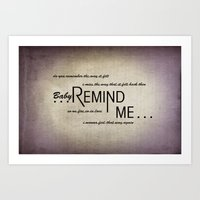 Remind Me (Horizontal) Art Print