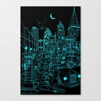 London! Night Canvas Print