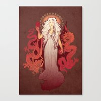 Our Mother Of Dragons Canvas Print