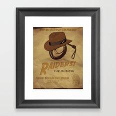Raiders! The Musical Framed Art Print