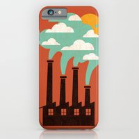 iPhone & iPod Case featuring The Cloud Factory by Budi Kwan