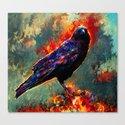 three eyed crow Canvas Print