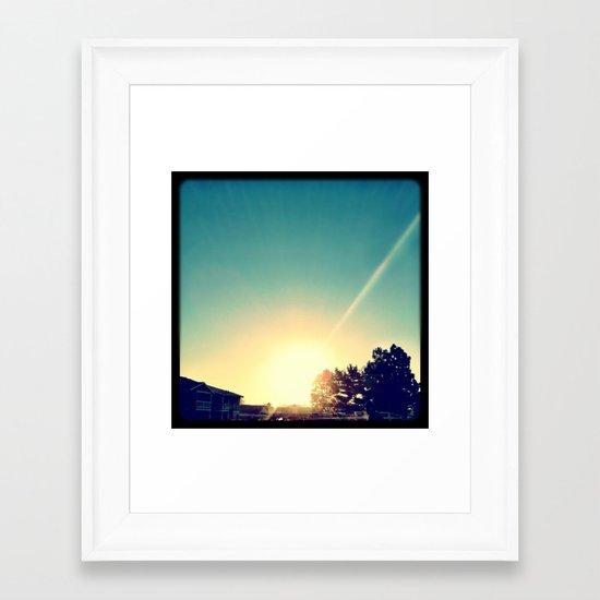 Sun. Framed Art Print
