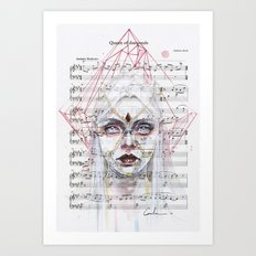 Queen Of Diamonds On She… Art Print