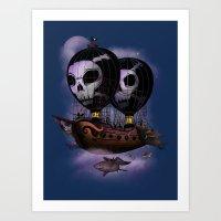 Hot Air Pirates Art Print