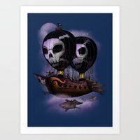 Hot Air Pirates Art Print