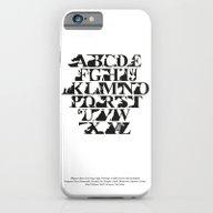 Alphabet Zoo (black And … iPhone 6 Slim Case