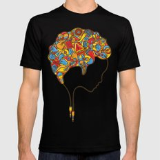 Musical Mind Mens Fitted Tee Black SMALL