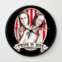 Tattler Twins (edited) Wall Clock