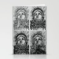 New York City Black And … Stationery Cards