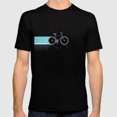 Light Bicycles Black SMALL Mens Fitted Tee