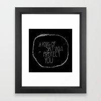 A Ring Of Salt In Black Framed Art Print