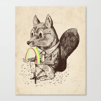 Strange Fox Canvas Print