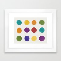 Color Dots Framed Art Print