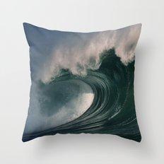 Winter Waves At Waimea Bay 2 Throw Pillow
