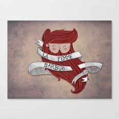 Bearded woman Canvas Print