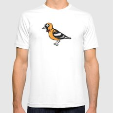 oriole Mens Fitted Tee White SMALL