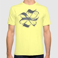 Letter X Mens Fitted Tee Lemon SMALL
