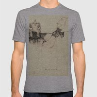 Mutant Stories Mens Fitted Tee Athletic Grey SMALL
