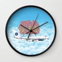 Happy Plane Wall Clock