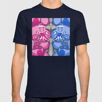 Combo Breaker! Mens Fitted Tee Navy SMALL