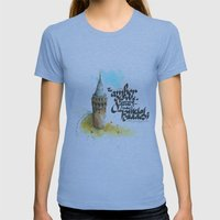 Istiklal Caddesi Womens Fitted Tee Athletic Blue SMALL