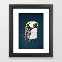 Wise Little Owl Framed Art Print