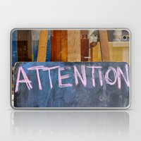 'Attention' Laptop & iPad Skin