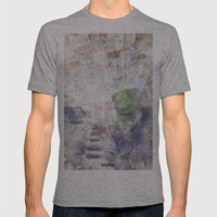 GREEN PIANOFORTE Mens Fitted Tee Athletic Grey SMALL